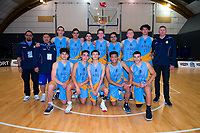 The MAGS team after the 2019 Schick AA Boys' National Secondary Schools Basketball Championships bronze playoff between Mount Albert Grammar School and Cashmere High School at the Central Energy Trust Arena in Palmerston North, New Zealand on Saturday, 5 October 2019. Photo: Dave Lintott / lintottphoto.co.nz