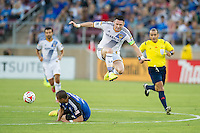 STANFORD, CA - June 28, 2014: The San Jose Earthquakes vs Los Angeles Galaxy  match in Stanford Stadium in Palo Alto, CA. Final score SJ Earthquakes 0, LA Galaxy 1.