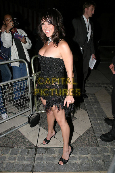 LISA SCOTT LEE.FHM 100 Sexiest Women Party, Guildhall, .London,.3rd June 2004..full length full-length black strapless tassels see through.www.capitalpictures.com.sales@capitalpictures.com.©Capital Pictures