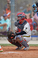 Juan Gonzalez (33) during the WWBA World Championship at the Roger Dean Complex on October 13, 2019 in Jupiter, Florida.  Juan Gonzalez attends Champagnat Cath Sch Of Miami High School in Doral, FL and is committed to Miami-Dade College.  (Mike Janes/Four Seam Images)