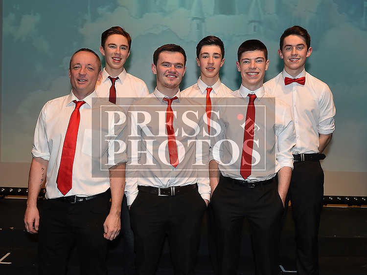 Terry Kevitt, Ryan Gargan, Conor Smyth, Sean Savage, Shane McAllister and Tony Óg Smith who took part in the Strictly Come Dancing in aid of SOSAD. Photo:Colin Bell/pressphotos.ie