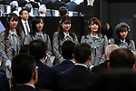 Members of AKB48 Team 8 attend the Grand Opening Ceremony of Ariake Arena on February 2, 2020, Tokyo, Japan. The new sporting and cultural centre will host the volleyball and wheelchair basketball competitions during the Tokyo 2020 Olympic Games. (Photo by Rodrigo Reyes Marin/AFLO)