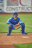 Marco Hernandez (13) of the Ogden Raptors before the game against the Orem Owlz at Lindquist Field on June 20, 2019 in Ogden, Utah. The Owlz defeated the Raptors 11-8. (Stephen Smith/Four Seam Images)