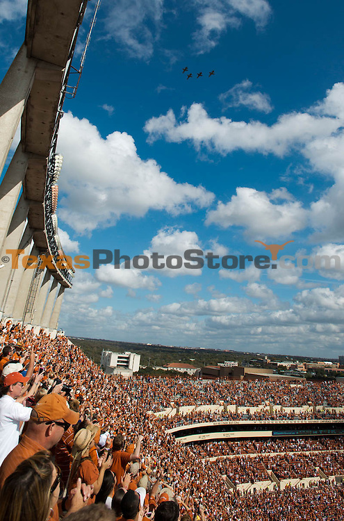 Texas Royal-Memorial Stadium Flyover