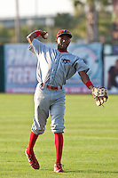 May 6 2010: D'Arby Myers (35) of the Clearwater Threshers during a game vs. the Daytona Cubs at Jackie Robinson Ballpark in Daytona Beach, Florida. Clearwater, the Florida State League High-A affiliate of the Philadelphia Phillies, won the game against Daytona, affiliate of the Chicago Cubs, by the score of 4-1.  Photo By Scott Jontes/Four Seam Images