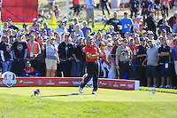 J.B. Holmes (Team USA) on the 9th tee during the Friday afternoon Fourball at the Ryder Cup, Hazeltine national Golf Club, Chaska, Minnesota, USA.  30/09/2016<br /> Picture: Golffile | Fran Caffrey<br /> <br /> <br /> All photo usage must carry mandatory copyright credit (&copy; Golffile | Fran Caffrey)
