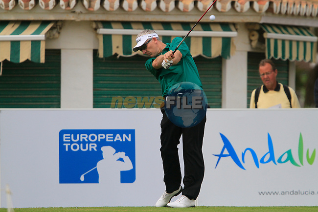 Phillip Price (WAL) in action on the 10th tee during Day 2 Friday of the Open de Andalucia de Golf at Parador Golf Club Malaga 25th March 2011. (Photo Eoin Clarke/Golffile 2011)
