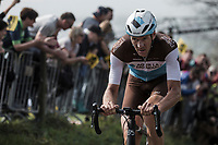 Stijn Vandenbergh (BEL/AG2R La Mondiale) up the Koppenberg <br /> <br /> 103rd Ronde van Vlaanderen 2019<br /> One day race from Antwerp to Oudenaarde (BEL/270km)<br /> <br /> ©kramon