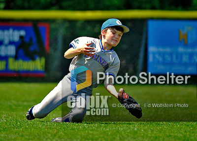 26 May 2012: The Burlington American Mariners in Little League action against the Burlington American Athletics at Calahan Park in Burlington, Vermont. Mandatory Credit: Ed Wolfstein Photo