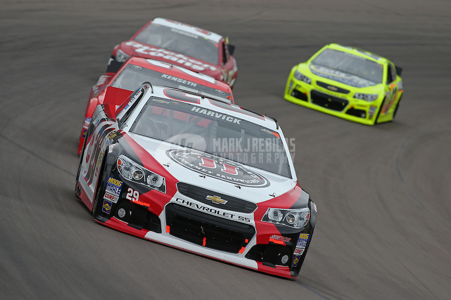 Mar. 3, 2013; Avondale, AZ, USA; NASCAR Sprint Cup Series driver Kevin Harvick during the Subway Fresh Fit 500 at Phoenix International Raceway. Mandatory Credit: Mark J. Rebilas-