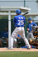 Toronto Blue Jays Matt Dean (25) during a minor league spring training game against the Pittsburgh Pirates on March 26, 2015 at Pirate City in Bradenton, Florida.  (Mike Janes/Four Seam Images)