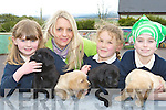 Jane Twomey, Suzanne Morris, Lucia Collins and Sarah Cusack Knocknagoshel at the Kerry Guide dogs launch at Knocknagoshel National School Friday morning.