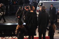Widow Celine Dion and her kids at the funeral of Rene Angelil, , Friday Jan. 22, 2016 at Notre-Dame Basilica in Montreal, Canada.<br /> <br /> <br /> <br /> <br /> <br /> <br /> <br /> <br /> <br /> <br /> <br /> <br /> <br /> .
