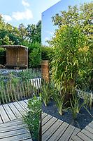 """France, Domaine de Chaumont-sur-Loire, Festival International des Jardins 2018 sur le thème """"Jardins de la pensée"""", jardin """"Le dédale de la pensée"""""""
