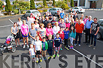 Pictured at a charity walk in aid of Fr. Tim Galvin's missions in South Sudan on Sunday in Abbeyfeale.  Fr. Tim Galvin is pictured far right in the blue shirt.