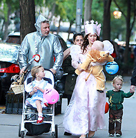 NEW YORK, NY October 31, 2017  Alec Baldwin, Carmen Baldwin. Hilaria Thomas, Leonardo Angel Charles Badwin, Rafaei Baldwin,dress for Halloween in New York October 31,  2017. Credit:RW/MediaPunch