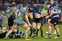 Paul Grant of Bath Rugby in possession. Anglo-Welsh Cup match, between Bath Rugby and Newcastle Falcons on January 27, 2018 at the Recreation Ground in Bath, England. Photo by: Patrick Khachfe / Onside Images