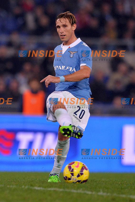 Lucas Biglia Lazio.<br /> Roma 22-11-2014 Stadio Olimpico. Football Calcio 2014/2015 Serie A. Lazio - Juventus. Foto Antonietta Baldassarre / Insidefoto