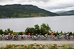 The start of Stage 4 of the 2018 Artic Race of Norway, running 145.5km from Kvalsund to Alta, Norway. 18th August 2018. <br /> <br /> Picture: ASO/Gautier Demouveaux | Cyclefile<br /> All photos usage must carry mandatory copyright credit (© Cyclefile | ASO/Gautier Demouveaux)
