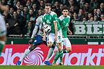 08.03.2019, Weserstadion, Bremen, GER, 1.FBL, Werder Bremen vs FC Schalke 04<br /> <br /> DFL REGULATIONS PROHIBIT ANY USE OF PHOTOGRAPHS AS IMAGE SEQUENCES AND/OR QUASI-VIDEO.<br /> <br /> im Bild / picture shows<br /> Niklas Moisander (Werder Bremen #18) mit Ballannahme, <br /> <br /> Foto &copy; nordphoto / Ewert