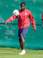USA's Eddie Johnson during practice in Hamburg, Germany, for the 2006 World Cup, June, 9, 2006.
