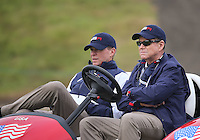 23 Sept 14 Vice Captain Steve Stricker and Tom Watson  during the Tuesday Practice Round at The Ryder Cup at The Gleneagles Hotel in Perthshire, Scotland. (photo credit : kenneth e. dennis/kendennisphoto.com)