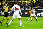 09.03.2019, Signal Iduna Park, Dortmund, GER, 1.FBL, Borussia Dortmund vs VfB Stuttgart, DFL REGULATIONS PROHIBIT ANY USE OF PHOTOGRAPHS AS IMAGE SEQUENCES AND/OR QUASI-VIDEO<br /> <br /> im Bild   picture shows:<br /> Mario Goetze (Borussia Dortmund #10) im Duell mit Santiago Ascacibar (VfB Stuttgart #6), <br /> <br /> Foto &copy; nordphoto / Rauch