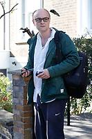 JUL 07 Dominic Cummings departs home for work
