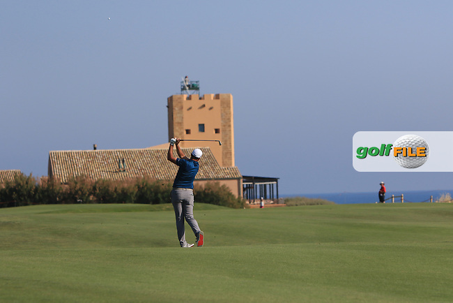 Richard Bland (ENG) on the 18th fairway during Round 2 of The Rocco Forte Open  at Verdura Golf Club on Friday 19th May 2017.<br /> Photo: Golffile / Thos Caffrey.<br /> <br /> All photo usage must carry mandatory copyright credit     (&copy; Golffile | Thos Caffrey)