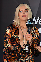 LOS ANGELES, CA - NOVEMBER 20: Bebe Rexha at Westwood One on the carpet at the 2016 American Music Awards at the Microsoft Theater in Los Angeles, California on November 20, 2016. Credit: David Edwards/MediaPunch