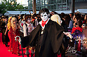 "April 12, 2012, Tokyo, Japan - Fan of Johnny Depp wears vampier costumes at Roppongi Hills for the Japan Premier of ""Dark Shadows"". ""Dark Shadows"" starts showing in Japan on May 19, 2012.."