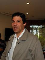 SAO PAULO, 30 DE JULHO DE 2012. CAFÉ DA MANHÃ DO LULA COM CANDIDATOS. O candidato do PT à prefeitura de São Paulo, Fernando Haddad, durante café da manhã do ex presidente Lula com os candidatos do PT a prefeitura. FOTO: ADRIANA SPACA - BRAZIL PHOTO PRESS