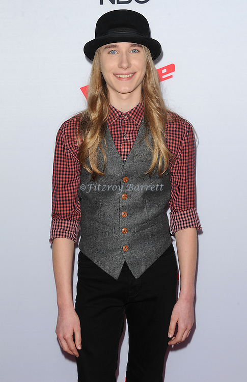 Sawyer Fredericks arriving NBC's The Voice Season 8 Red Carpet Event held at the Pacific Design Center Los Angeles CA. April 23, 2015