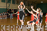 Maura Guiney St Paul's goes round Aisling O'Neill Killester in the Senior Women's National Cup semi final at the Parochial Hall, Cork on Saturday.