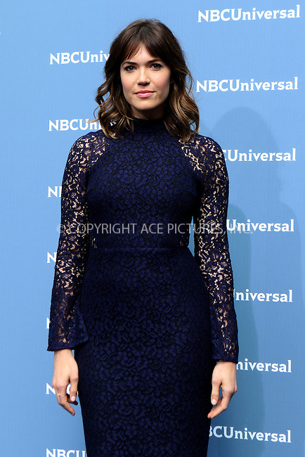 WWW.ACEPIXS.COM<br /> <br /> May 16 2016, New York City<br /> <br /> Mandy Moore arriving at the 2016 NBC Univeral Upfront at Radio City Music Hall on May 16, 2016 in New York City.<br /> <br /> By Line: Nancy Rivera/ACE Pictures<br /> <br /> <br /> ACE Pictures, Inc.<br /> tel: 646 769 0430<br /> Email: info@acepixs.com<br /> www.acepixs.com