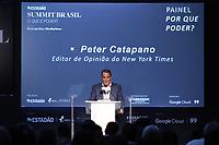 SÃO PAULO, SP, 30.10.2019 - ECONOMIA-SP - Peter Catapano, Editor de Opinião do New York Times, participa do Estadão Summit Brasil - O que é Poder?, no Pavilhão da Bienal no Parque do Ibirapuera, em São Paulo, nesta quarta-feira, 30. (Foto Charles Sholl/Brazil Photo Press/Folhapress)