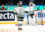 Stockholm 2014-03-27 Ishockey Kvalserien Djurg&aring;rdens IF - R&ouml;gle BK :  <br /> R&ouml;gles Andreas Lilja deppar<br /> (Foto: Kenta J&ouml;nsson) Nyckelord:  DIF Djurg&aring;rden R&ouml;gle RBK Hovet depp besviken besvikelse sorg ledsen deppig nedst&auml;md uppgiven sad disappointment disappointed dejected