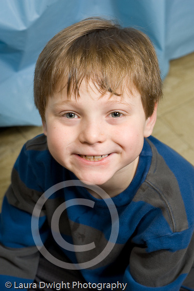 Education Elementary school Grade 2 closeup portrait of boy vertical