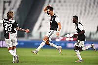26th July 2020, Turin, Italy;  Goal celebrations from scorer Cristiano Ronaldo  during the Seria A league game, Juventus versus Sampdoria