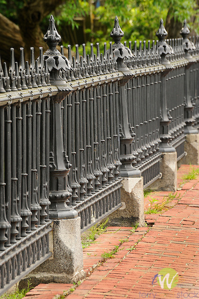 Boston Public Garden. Metal fence