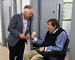 Mayor of Killarney Cllr Brendan Cronin and  IWA Service Coordinator Terry OÕBrien at the opening of the Irish Wheelchair Association new Community Centre at The Reeks Gateway, Killarney on Friday.  Picture: macmonagle.com
