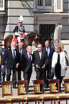 01.10.2012. The Spanish Royal Family, King Juan Carlos, Queen Sofia, Prince Felipe, Princess Letizia and Princess Elena attend the imposition of collective Distinguished Cross San Fernando Al Banner Armored Cavalry Regiment ´Alcántara´ No. 10 in the Royal Palace in Madrid, Spain. In the image ministers of Spain (Alterphotos/Marta Gonzalez)