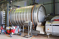 The rotating fermentation tank rotofermenter used to increase extraction. Vinedos y Bodega Filgueira Winery, Cuchilla Verde, Canelones, Montevideo, Uruguay, South America