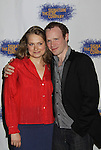 """Merritt Wever & Sean Dugan at the Opening Night party of Signature Theatre Company's """"The Illusion"""" on June 5, 2001 at the West Bank Cafe with the play at the Peter Norton Space, New York City, New York.  (Photo by Sue Coflin/Max Photos)"""