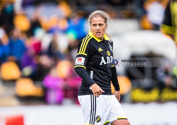 Solna 2014-04-13 Fotboll Damallsvenskan AIK - FC Roseng&aring;rd :  <br /> AIK:s Filippa Angeldahl <br /> (Foto: Kenta J&ouml;nsson) Nyckelord:  AIK Gnaget FC Roseng&aring;rd Malm&ouml; portr&auml;tt portrait