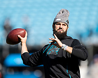 CHARLOTTE, NC - NOVEMBER 3: Will Grier #3 of the Carolina Panthers during a game between Tennessee Titans and Carolina Panthers at Bank of America Stadium on November 3, 2019 in Charlotte, North Carolina.