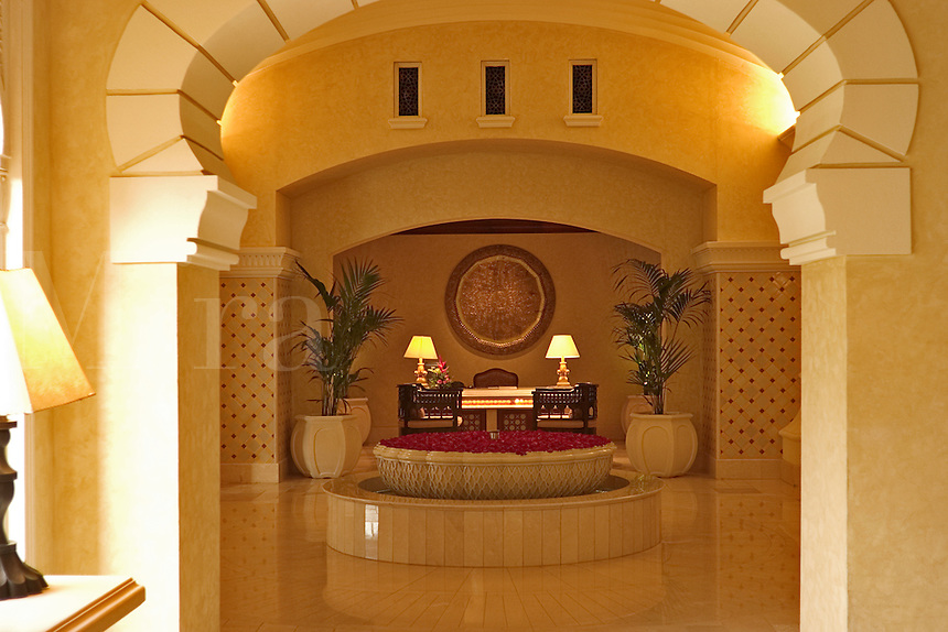 Dubai, United Arab Emirates. Royal Mirage Hotel. Interior, adjacent to the lobby..