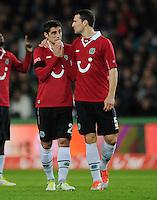 FUSSBALL   1. BUNDESLIGA    SAISON 2012/2013    9. Spieltag   Hannover 96 - Borussia Moenchengladbach         28.10.2012 Lars Stindl und Mario Eggimann (v.l., beide Hannover 96) sind enttaeuscht
