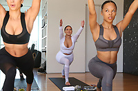 31 March 2017 - Beverly Hills, California - Adrienne Eliza Houghton, Adrienne Bailon. Draya Michele and Friends at AloYoga. Photo Credit: AdMedia