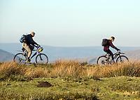 Mountain bike riders, Lancashire.